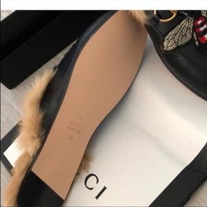a5cedf8db Gucci Shoes   Nwt Mules Bee Collection With A Real Fur 39   Poshmark